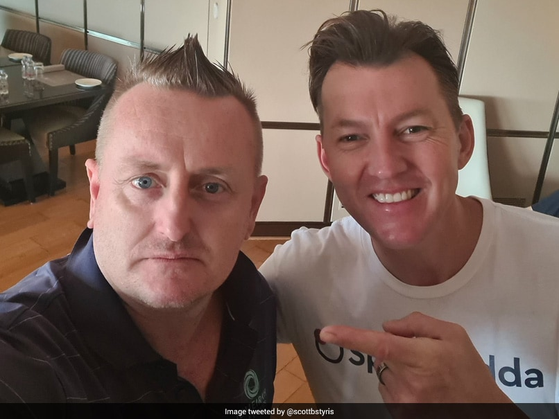 "IPL 2021: Scott Styris Gets A Mohawk In ""Haircut Round 2"" From Brett Lee"