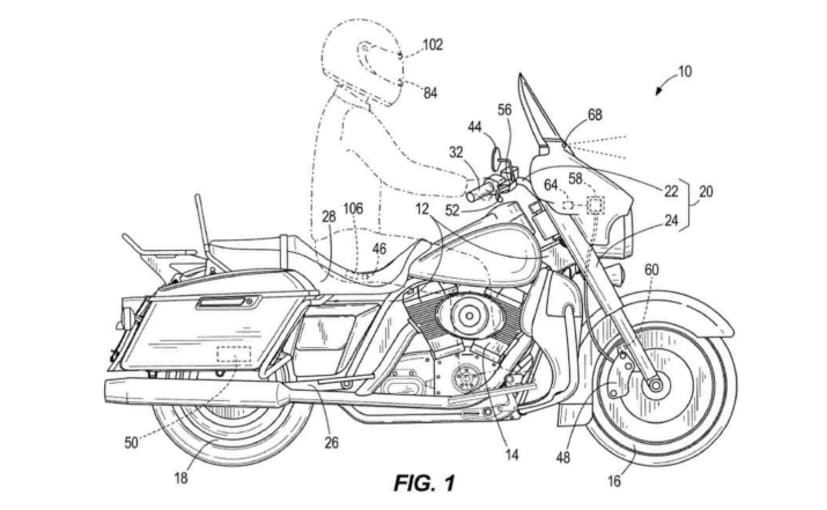 Patent filings show Harley-Davidson's latest emergency automated braking system