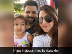 "Rohit Sharma's Wife Ritika Sajdeh Shares Selfie With Her ""Two Babies"""