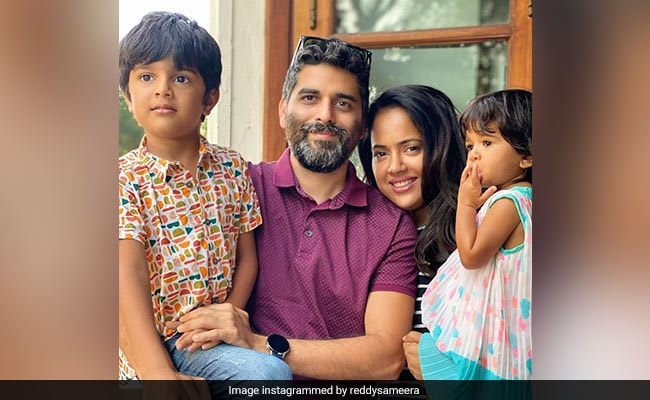 Actor Sameera Reddy Tests Positive After Her Kids Contracted COVID-19: 'This Is The Time To Be Strong'