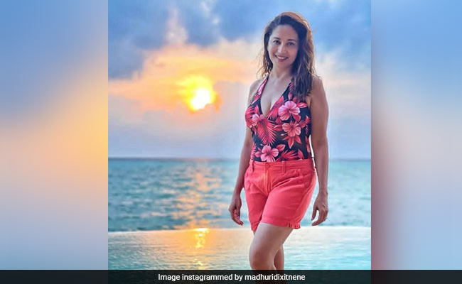 Pic: Madhuri Dixit's Smile Is As Bright As The Maldives Sun