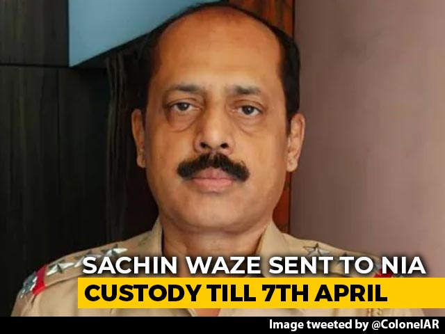 Video : Arrested Cop's Custody Extended Till April 7 In Ambani Bomb Scare Case
