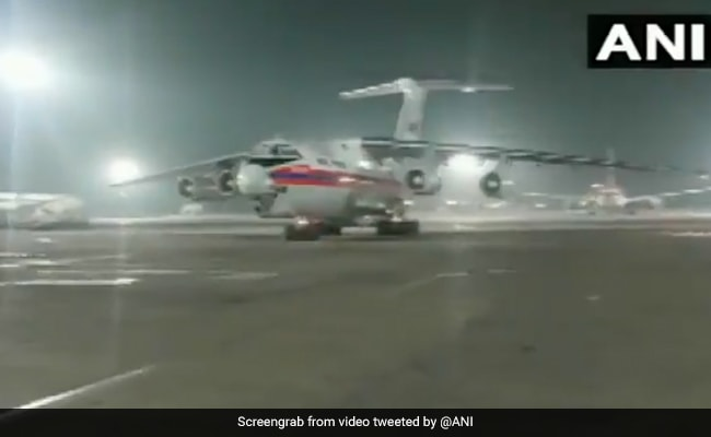 Russian Flights With Emergency Humanitarian Aid Land In India