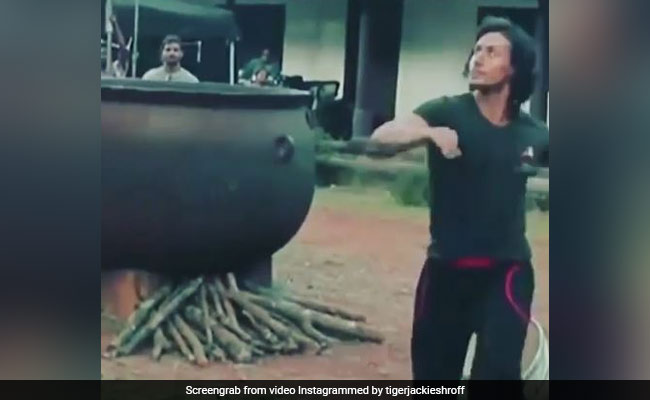 Tiger Shroff Plays Football In A Throwback From Baaghi Sets. Oh Wait, That's A Coconut