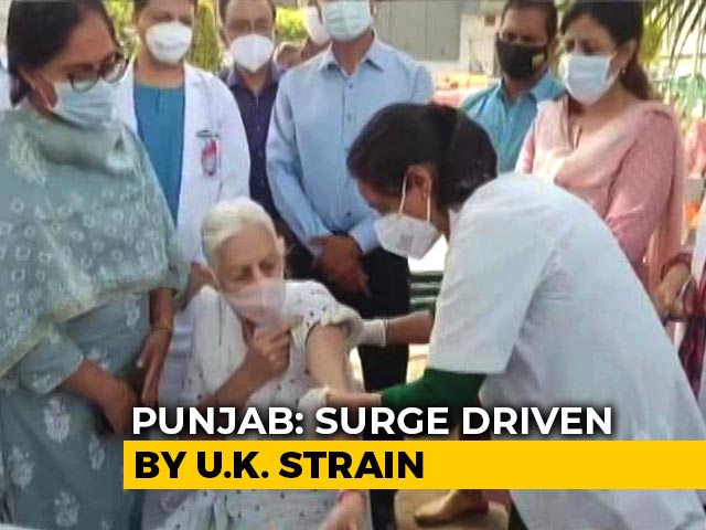 "Video : Punjab's ""NRI"" Belt Cause Of Concern As UK Strain Covid Cases Surge"