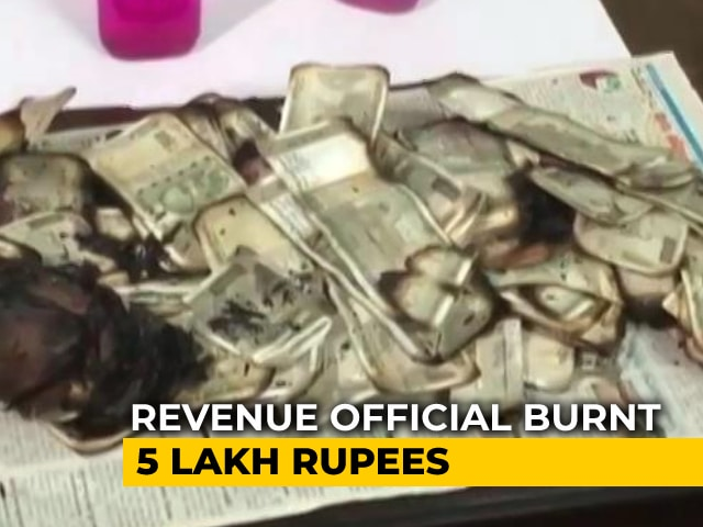 Video : Man Burns Bribe Money To Evade Arrest In Telangana: Anti-Corruption Official