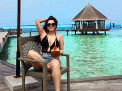 """The Blues Are Highly Appreciated"" By Minissha Lamba, Holidaying In Maldives"