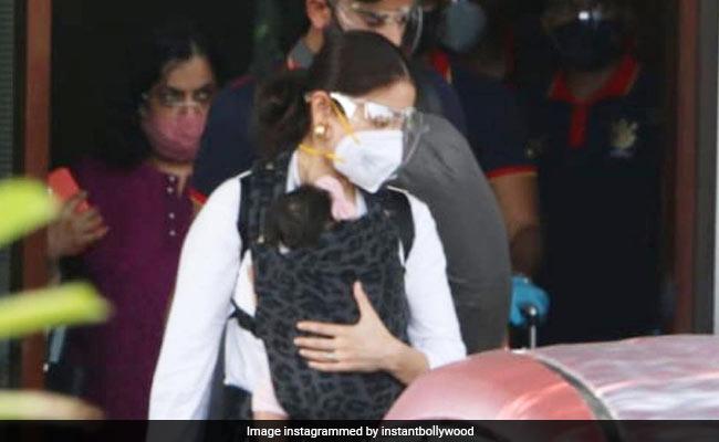 Viral Pics: Anushka Sharma, Virat Kohli At Mumbai Airport With Daughter Vamika