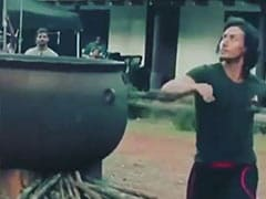 Tiger Shroff Plays Football On Baaghi Sets. Oh Wait, That's A Coconut