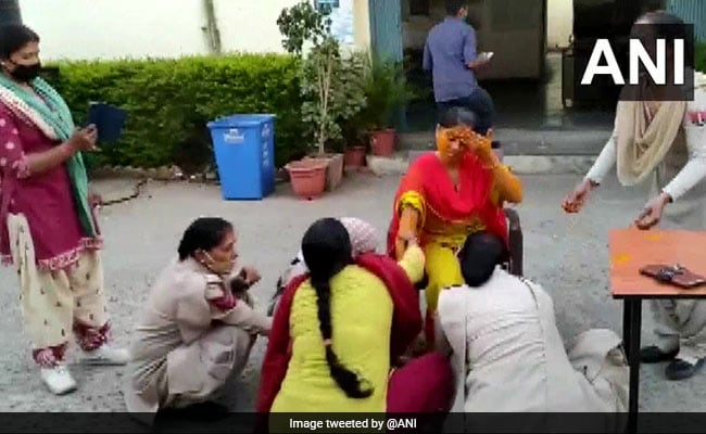 Watch: Rajasthan Cop's Haldi At Police Station Beacuse She's Couldn't Get Leave