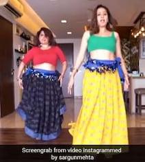 सरगुन मेहता ने 'लाल बिंदी' सॉन्ग पर यूं किया जोरदार डांस, बोलीं- बेली डांस की कोशिश...देखें Video