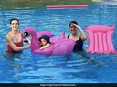 Natasa Stankovic Shares Pool Pic With Son Agastya And Pankhuri Sharma, Hardik Pandya Reacts