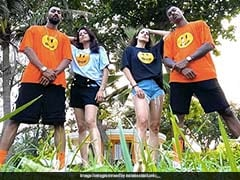 """The Pandya's Swag"": Hardik Pandya, Natasa Stankovic Shake A Leg With Krunal Pandya And His Wife. Watch"