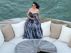 """Glimpses Of Madhuri Dixit's """"Messy Hair Don't Care"""" Mood In Maldives"""