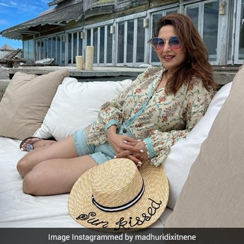 Madhuri Dixit Gives Us Beachside Fashion Goals In This Chic Attire
