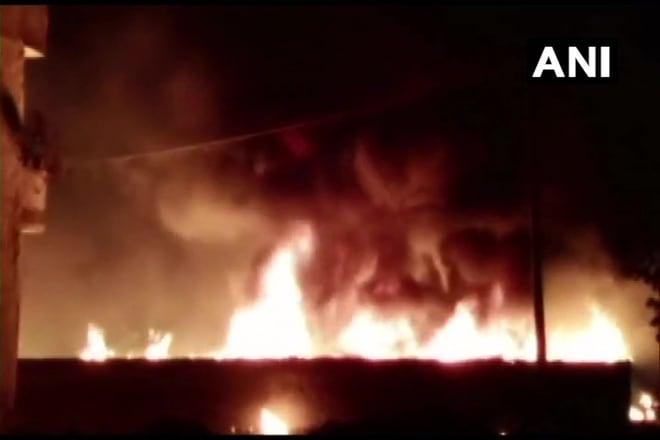 Huge Fire Breaks Out At A Slum In Gurugram
