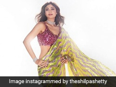 Shilpa Shetty In A Sequin Saree Adds A Pinch Of Sparkle And A Lot Of Sheen