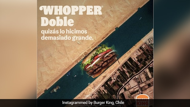 Burger King Using Suez Canal Crisis To Promote Burger Riles Up Internet