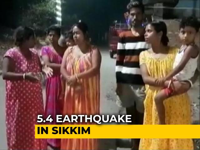 Video : 5.4 Magnitude Earthquake In Sikkim, Tremors Felt In North Bengal, Assam