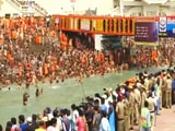 Video : Kumbh Mela: Lakhs Gather For Holy Dip In River Ganga Amid Covid Surge