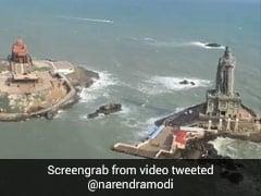 PM Shares Aerial View Of Vivekananda Rock Memorial, Thiruvalluvar Statue