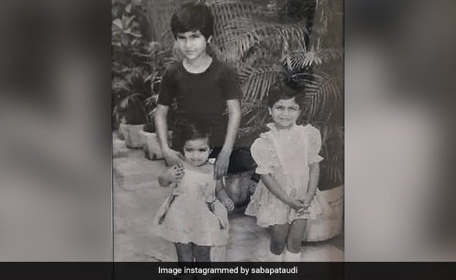 Saif Ali Khan With Sisters Soha And Saba In A Throwback Gem