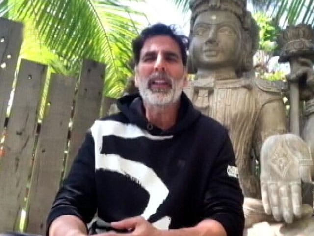 "Video : COVID-19 Positive Akshay Kumar Hospitalised: ""Hope To Be Back Home Soon"""