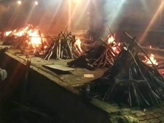 Video : All Night Long, Pyres Burn At Kanpur Crematorium