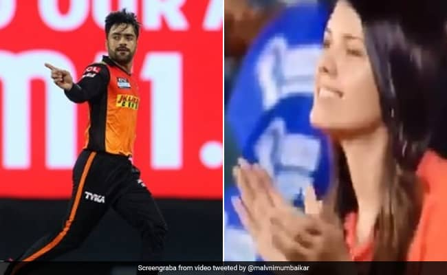 IPL 2021: Rashid Khan took wicket, SRHs Mystery Girl gave a cute expression, Video went viral