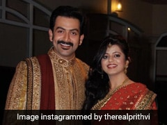 "Prithviraj Sukumaran's Post For Wife Supriya Menon On Wedding Anniversary: ""This Woman Deserves A Medal"""