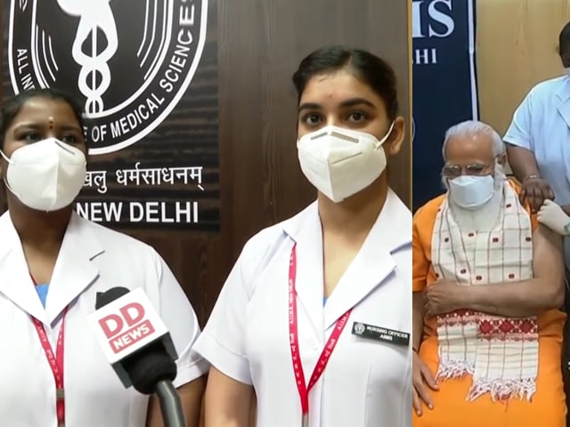 "Video : ""Memorable Moment, We Even Clicked Pictures"": Nurses Who Vaccinated PM"