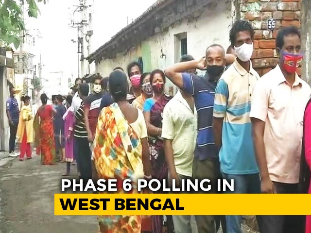 Video : Phase 6 Polls In West Bengal Today Amid Rising Covid Cases