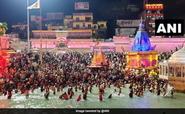 Pics: What Covid? At Kumbh Mela, Thousands Gather Amid Surge In Cases