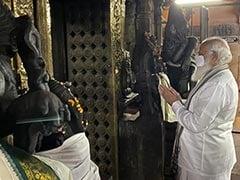 Wearing <i>Veshti</i>, PM Offers Prayers At Madurai's Meenakshi Amman Temple