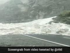 Watch: Avalanche Blocks Road At Kinnaur In Himachal Pradesh