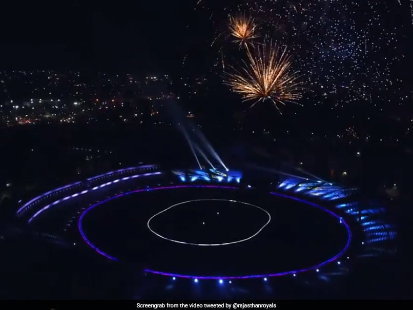 IPL 2021: Rajasthan Royals Light Up Sawai Mansingh Stadium For Their Stunning Jersey Unveiling. Watch