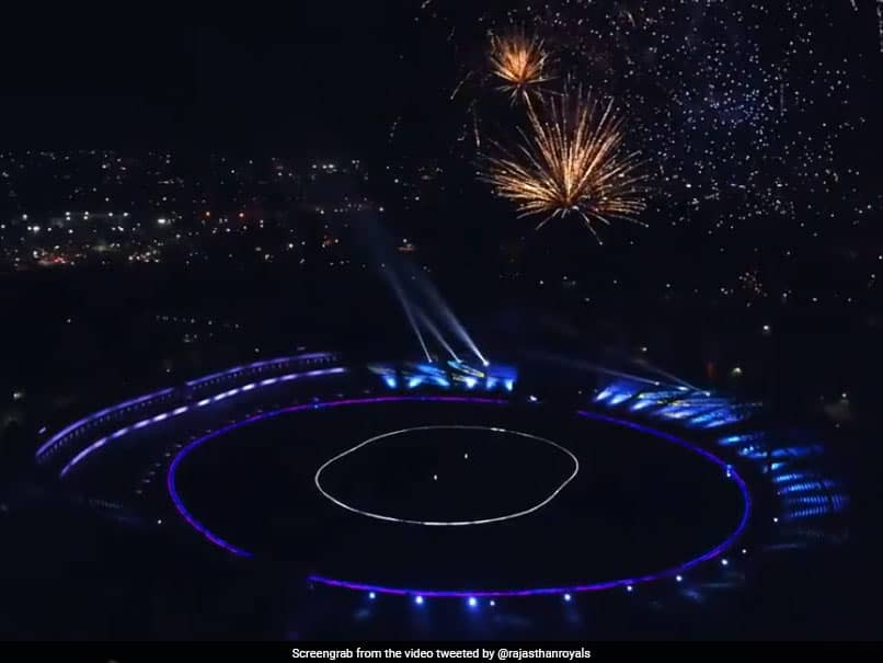 IPL 2021: Rajasthan Royals Light Up Sawai Mansingh Stadium For Their Stunning Jersey Unveiling. Watch