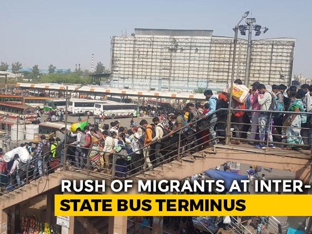 "Video : Arvind Kejriwal Says ""Main Hoon Na"", But Migrant Workers Head Home"