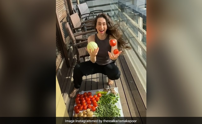 Glimpses Of Karisma Kapoor's Saturday Routine. It Includes 'Washing And Drying Veggies'