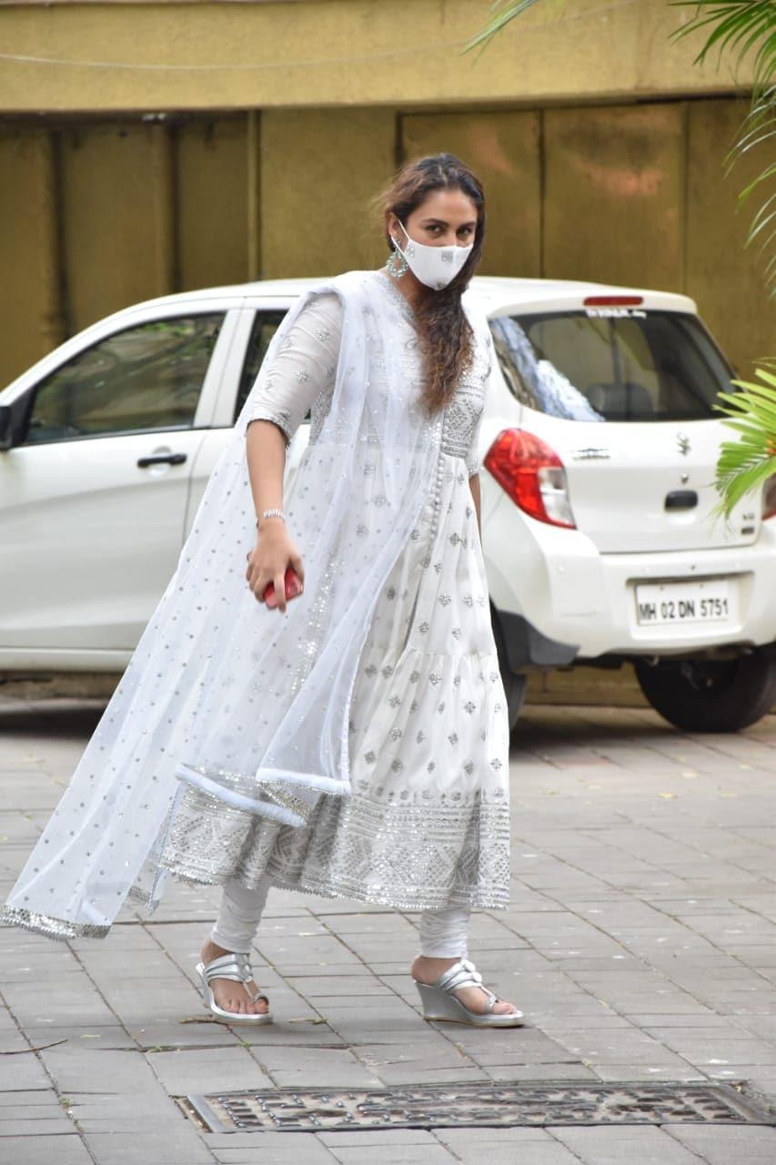 This Sparkling White Salwar Kameez Is An Eid 2021 Fashion Favourite For Soha Ali Khan, Gabriella Demetriades And Huma Qureshi