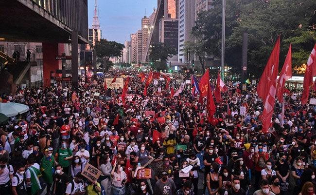 Thousands Protest In Brazil Against President Bolsonaro's Covid Response