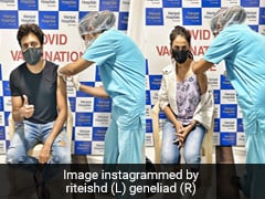 Riteish Deshmukh And Genelia D'Souza Get First COVID-19 Vaccine Shot