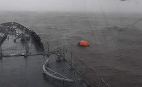 Watch: How Navy Warship In Dramatic Op Rescued People Stranded At Sea