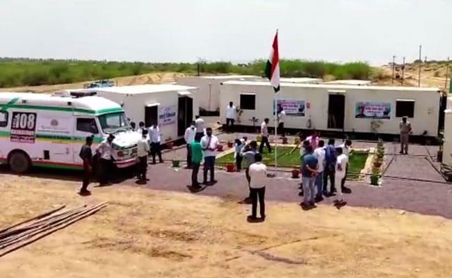 राजस्थान:  रेगिस्तान में रातों रात तैयार कर दिए गए दो अस्पताल, कोविड के मरीजों का होगा इलाज