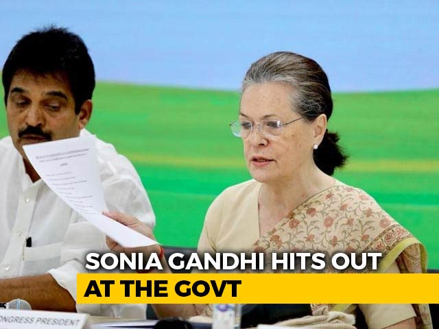 """Video : """"Modi Government Has Failed People Of India"""": Sonia Gandhi On Covid"""