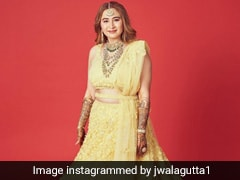 Jwala Gutta Is A Stunning Summer Bride In A Yellow <i>Lehenga</i> For Her Wedding To Vishnu Vishal