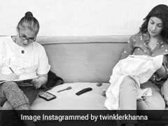 Sketching, Embroidery And A Chat: How Dimple Kapadia And Twinkle Khanna Spend Time