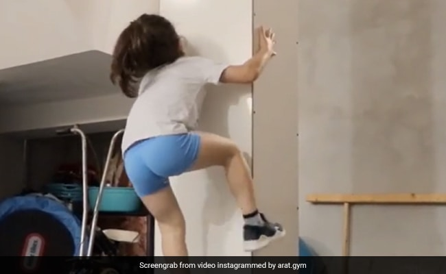 Video: 7-Year-Old 'Spiderman' Impresses The Internet With His Climbing Skills
