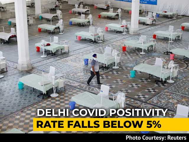 Video : Delhi's Covid Positivity Rate Falls Below 5%, Lowest Since April 4
