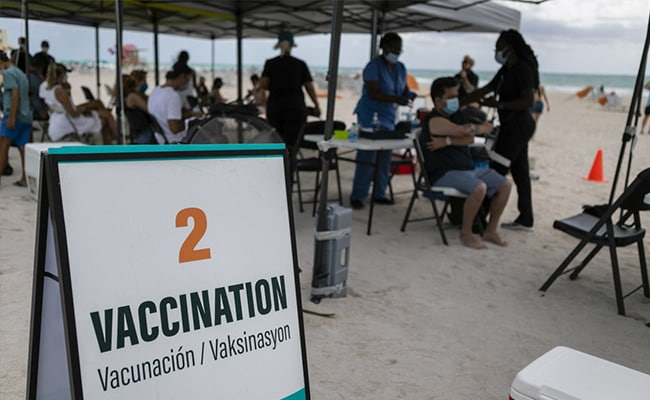 'Vaccine Tourists' Fly For Injections On US Beach